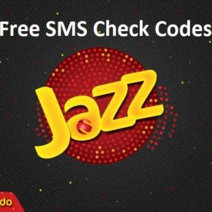 Jazz Free SMS Check Codes