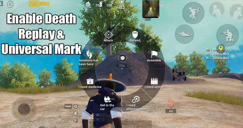 PUBG 0.17.0 Death replay and universal marks